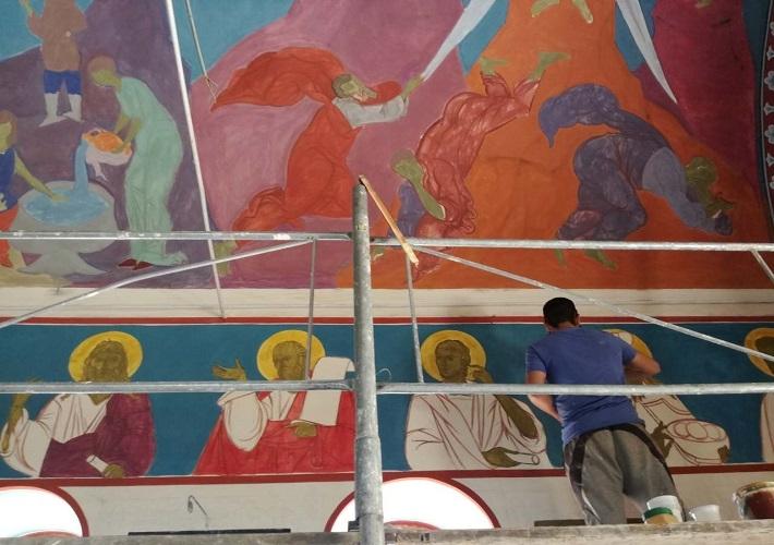 Počelo oslikavanje crkve u Livađu