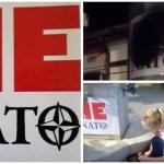 """Двери питају, шта значи уништавање плаката """"Не у НАТО""""?"""