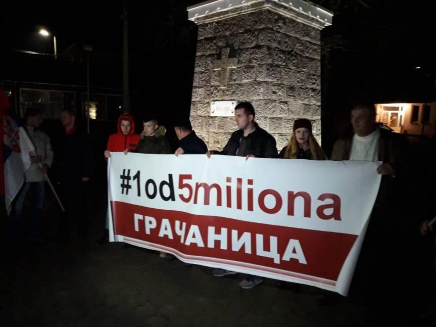 "Грачаница: Нови протест ""1 од 5 милиона"" 16. марта"