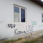 Графити УЧК на Дому културе у Бабином Мосту
