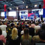 На завршној конвенцији Српске листе, преко видео бима се обратио и Александар Вучић