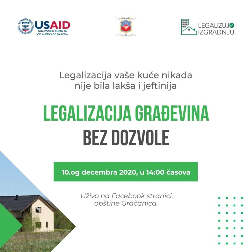 УСАИД и општина Грачаница: Легализација грађевина без дозволе