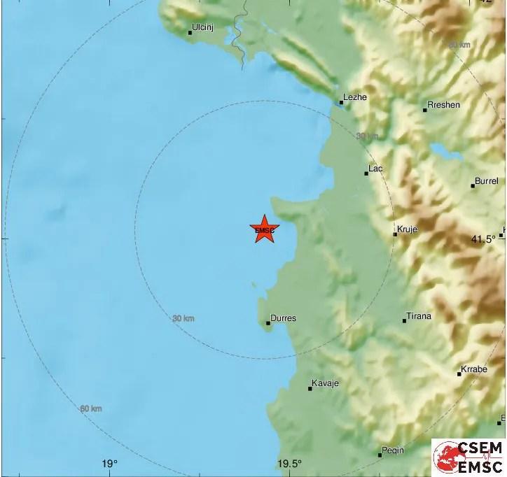 Земљотрес у Албанији