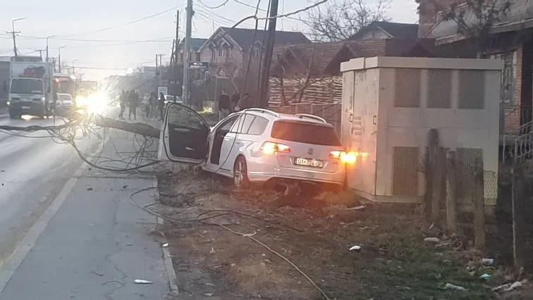 Аутомобилом ударио дечака на бициклу и оборио бандеру у Грачаници, па побегао са лица места