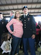 Alexandra and Esteban at his turning blue ceremony