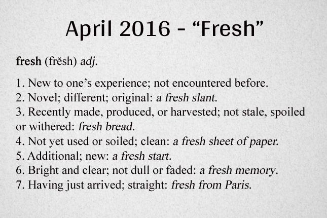 Fresh Definition