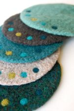 Coaster felting