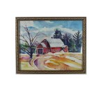 Renee Rossi - Barn in Receding Snow - $150