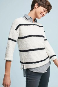 BB Dakota Striped Chenille Pullover