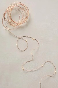 Anthropologie Aurora Copper String Lights