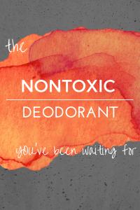 Non-Toxic Homemade Deodorant