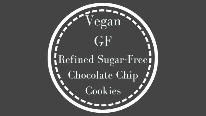 Vegan, GF, Refined-sugar-free chocolate chip cookies