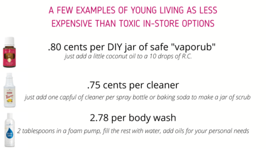 "These are five ways Young Living is a less expensive lifestyle than the toxic life the stores and other ""safe"" products offer."