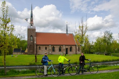 Cycle ride to Harkema's church