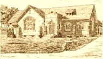 Grace United Church of Christ, Eden, Pennsylvania, ca 1920 stone church