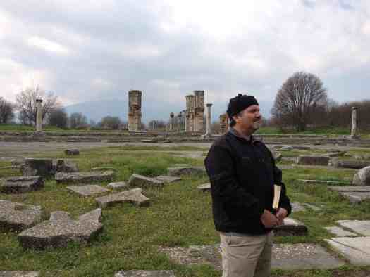 Ken in the ruins of ancient Philippi