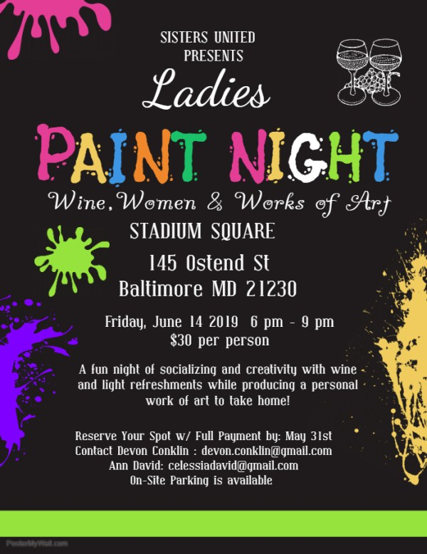 Copy of Ladies Paint Night Event Flyer Design - Made with PosterMyWall (1)