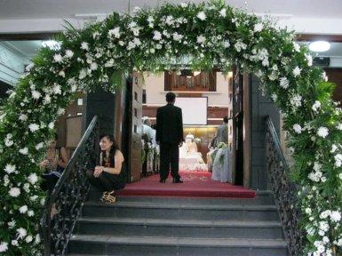 wedding gate pernikahan Inge & Ronald