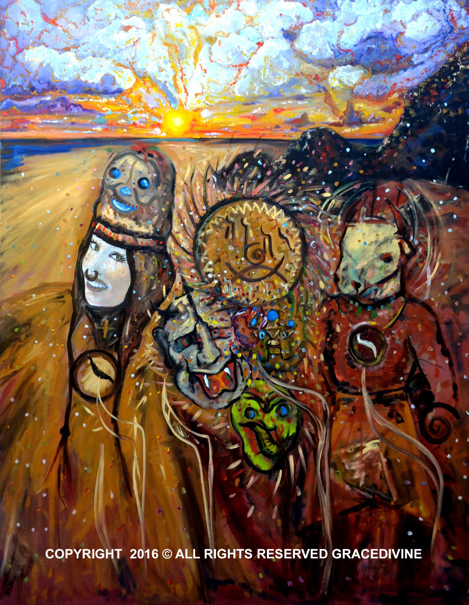 shaman, art, shamanism, symbolism, surrealism, symbol, art, judaism, native american, gracedivine