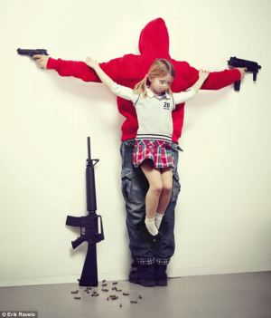 gun violence crucifiction