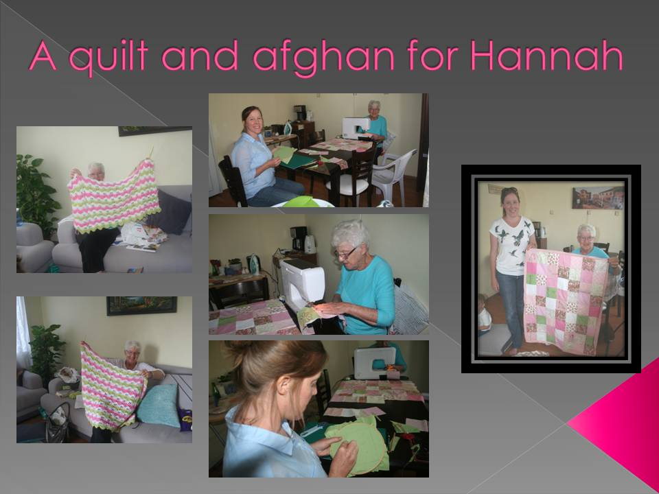 A quilt and afghan for Hannah