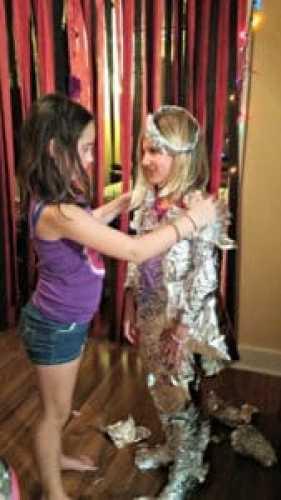 tin foil dress