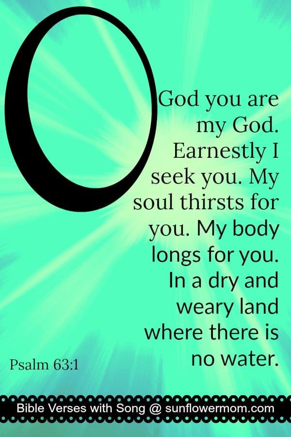 "Bible Memory Verses: ""O"" Psalm 63:1"