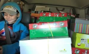 delivering operation christmas child boxes