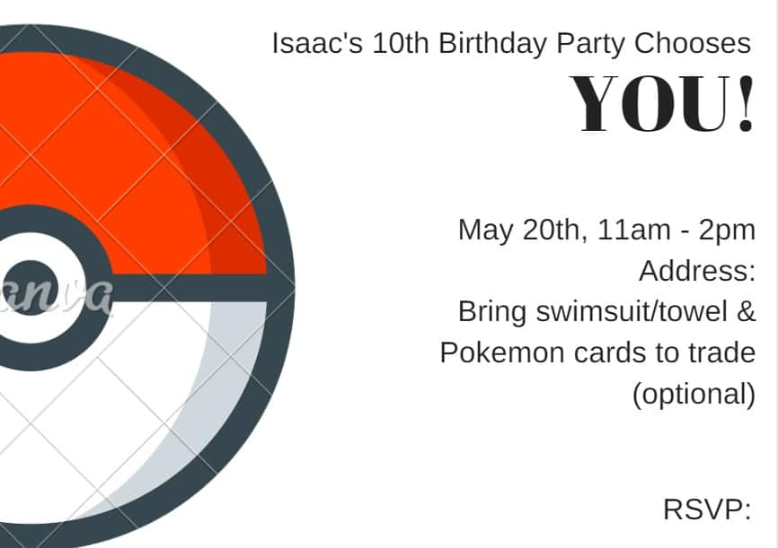 throw an amazing pokemon birthday party