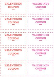 Valentines day Coupons for kids
