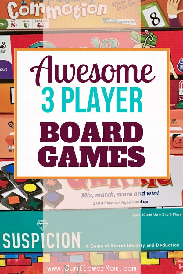 After sampling over 50 board games for 3 players, here are the best 3 player board games for families. These board games are perfect for children and parents. #GiftGuide #ChristmasGifts #singleparents #sunflowermom