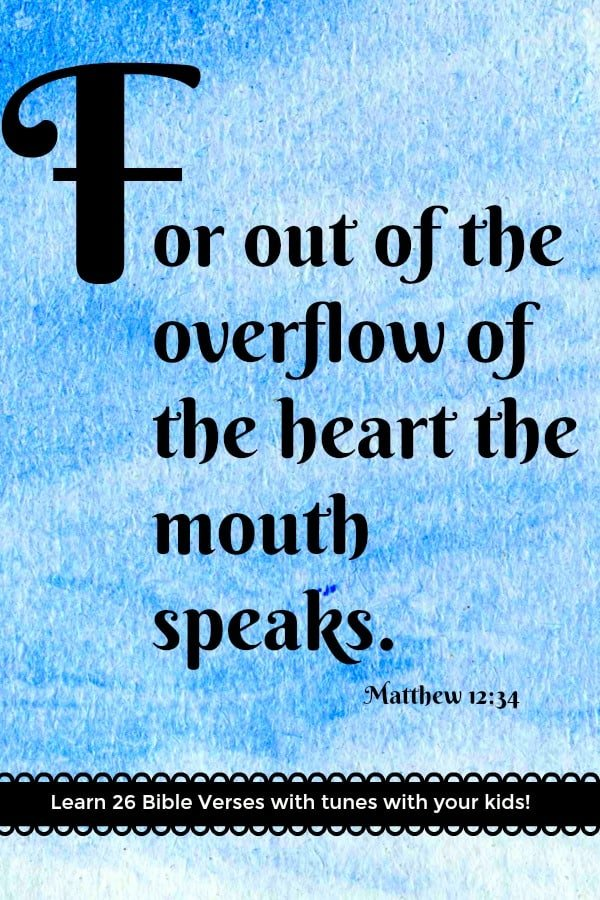Matthew 12:34 is the \