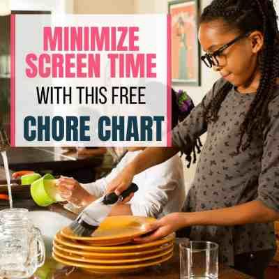 Screentime Chore Chart