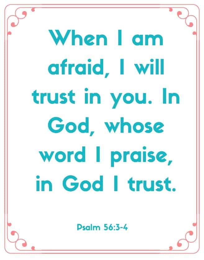"Bible Memory Verses: ""W"" Psalm 56:3-4"