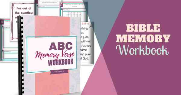 bible memory kids workbook
