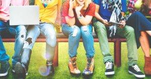 teens sitting