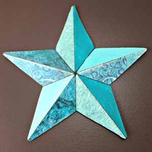 blue star wall decor
