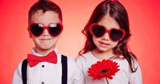 kids on valentines day