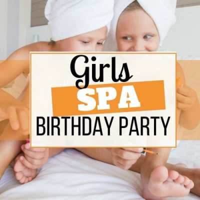 girls spa birthday party
