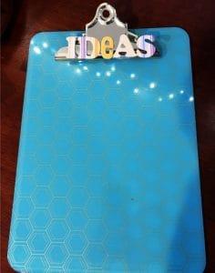 ideas clipboard