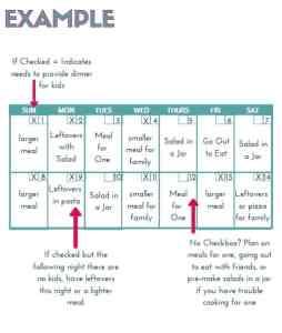 single parent meal plan page2