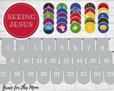 Advent Wall Decal Stickers