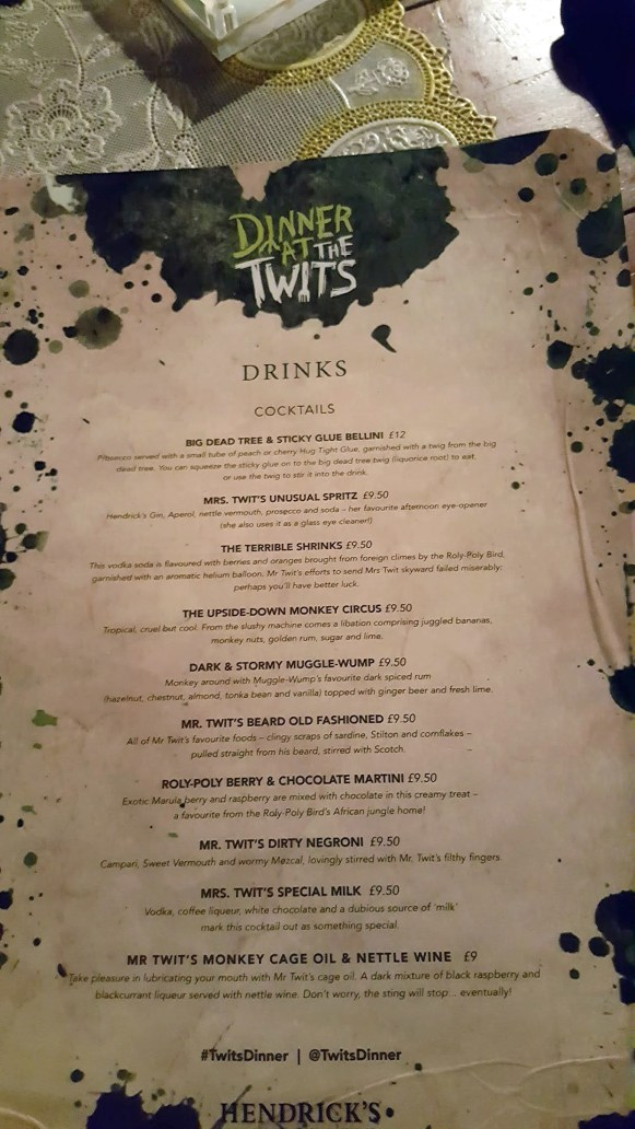 Roald Dahl The Twits - Dinner At The Twits Immersive Dining Experience