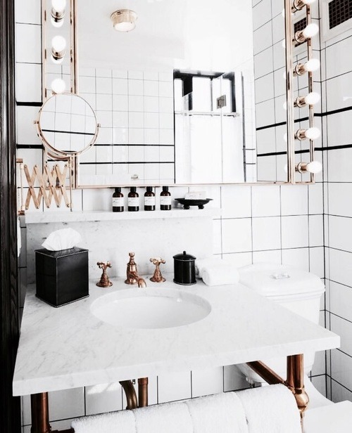 Minimalist Monochrome Interior Look - Bathroom