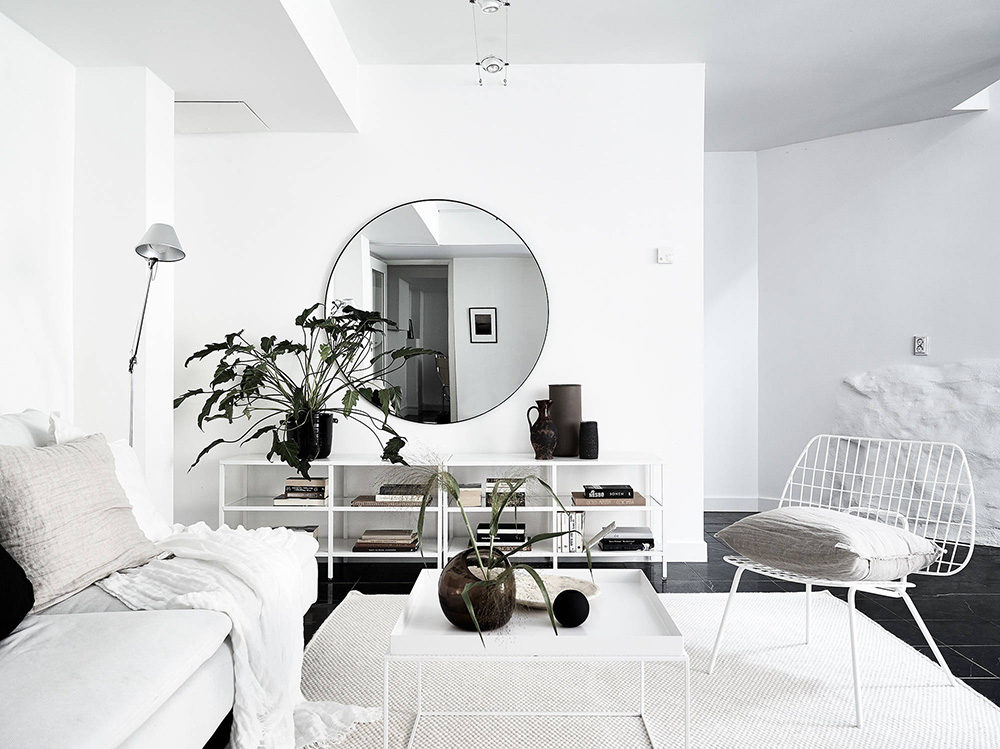 Minimalist Monochrome Interior Look - Living Room