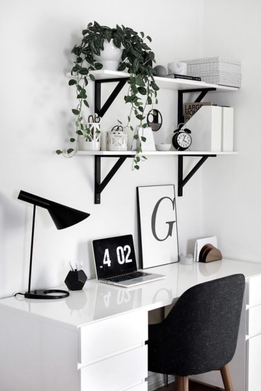 Minimalist Monochrome Interior Look - Home Office