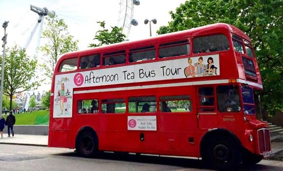 Unique London Date Ideas - Afternoon Tea Bus