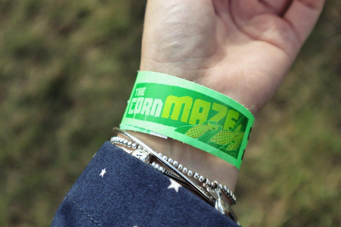 Graceful Blog wristband for the corn maze at Foxes Farm Produce Essex Pumpkin Patch.jpeg