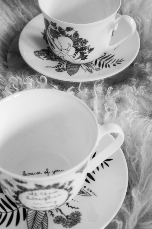 The Baby Butterfly teacup & saucer set