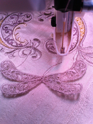 You can adjust the motif a little before you stitch